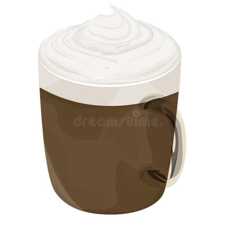 Icona calda del caffè della moca fotografia stock
