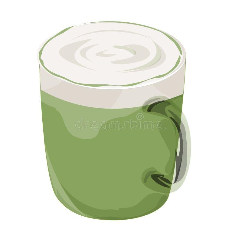 Icona calda del caffè della moca fotografia stock libera da diritti