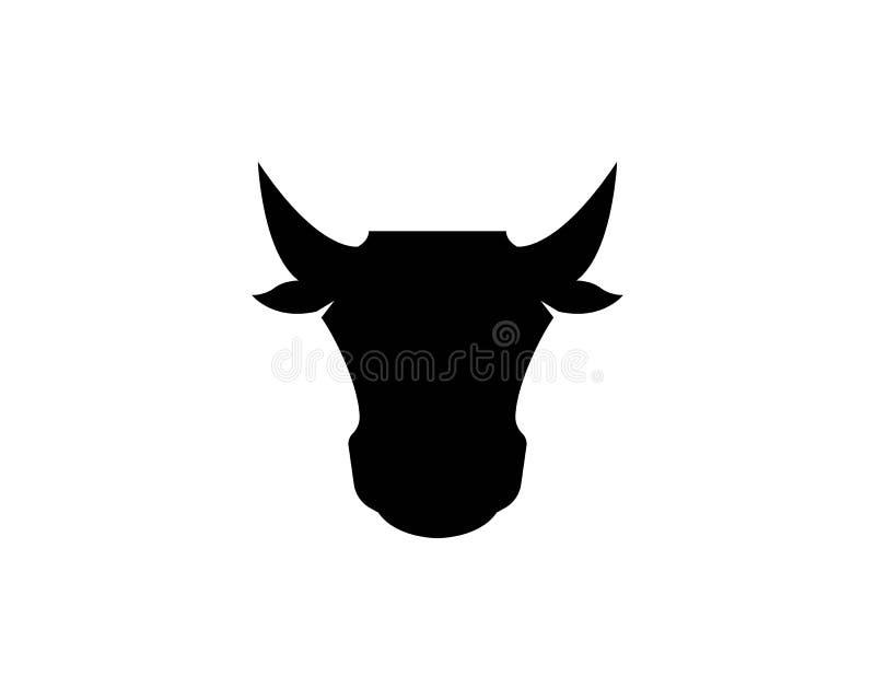 Icona capa del toro e della mucca illustrazione vettoriale