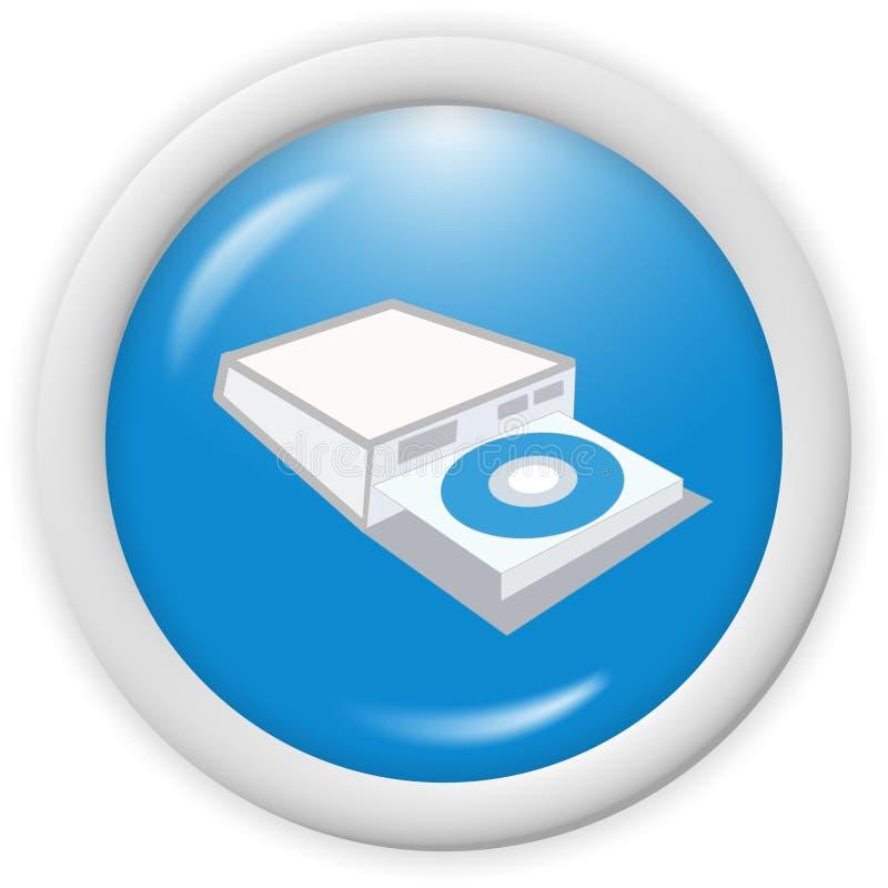 Icona Cd del disco illustrazione di stock
