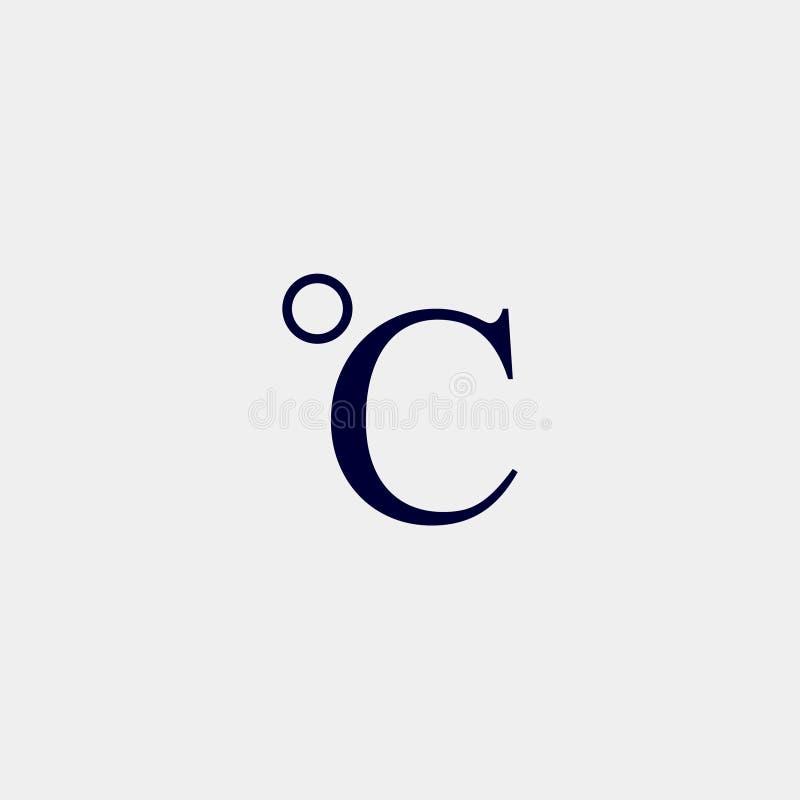icona centigrado illustrazione vettoriale