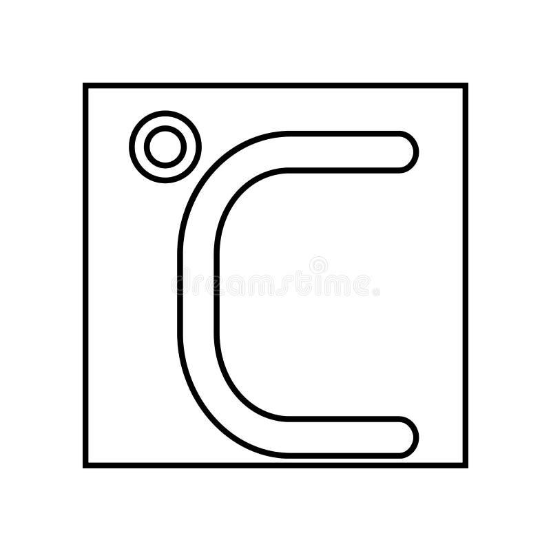 icona centigrado Elemento di se per il concetto e l'icona mobili dei apps di web Profilo, linea sottile icona per progettazione d illustrazione di stock