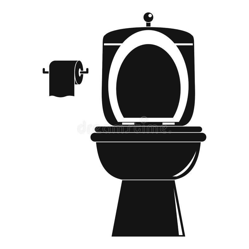Icona ceramica della toilette, stile semplice royalty illustrazione gratis