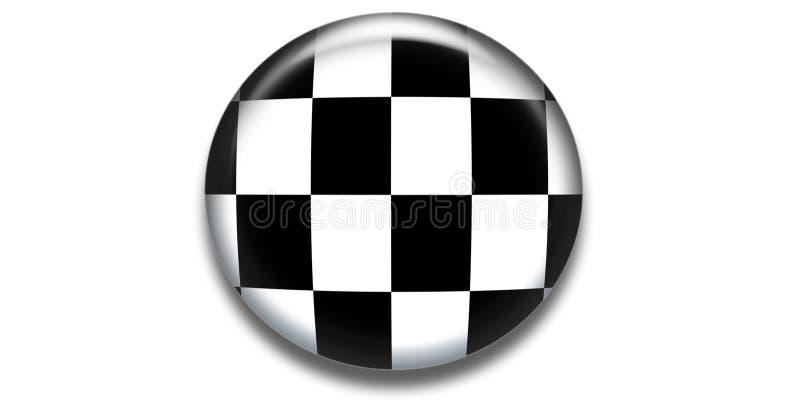 Icona Checkered del cerchio illustrazione di stock
