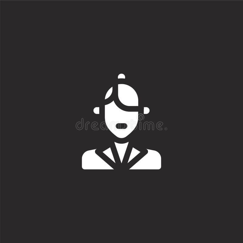 icona chiara Icona della griglia riempita per la progettazione del sito Web e per la mobilità, lo sviluppo dell'app Icona nitida  royalty illustrazione gratis
