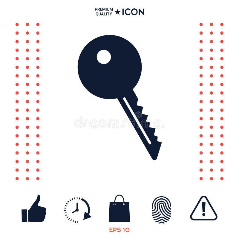 Download Icona chiave di simbolo illustrazione vettoriale. Illustrazione di obbligazione - 117975716