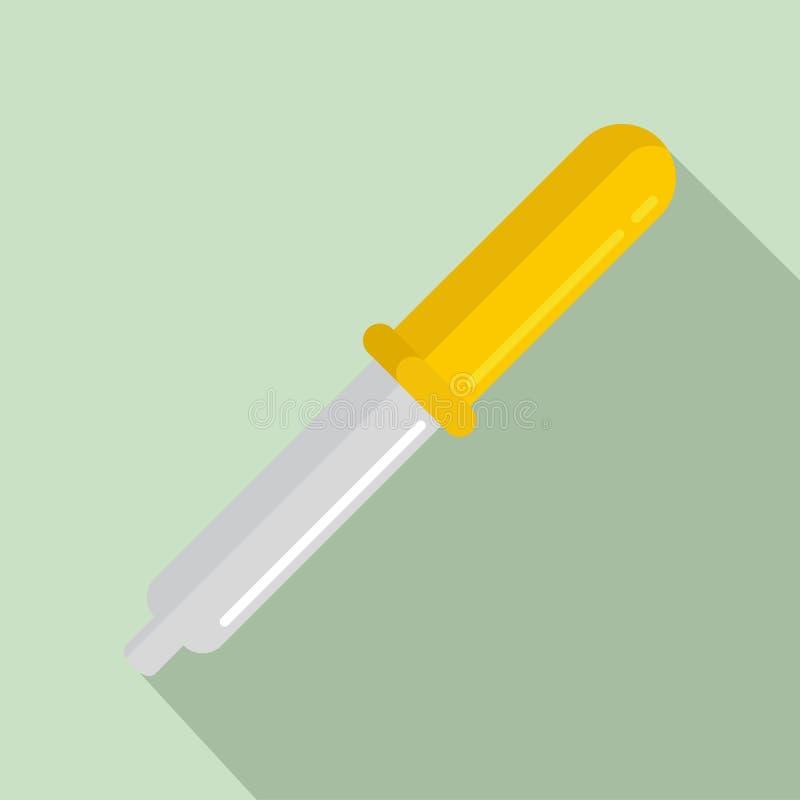 Icona chimica della pipetta, stile piano royalty illustrazione gratis