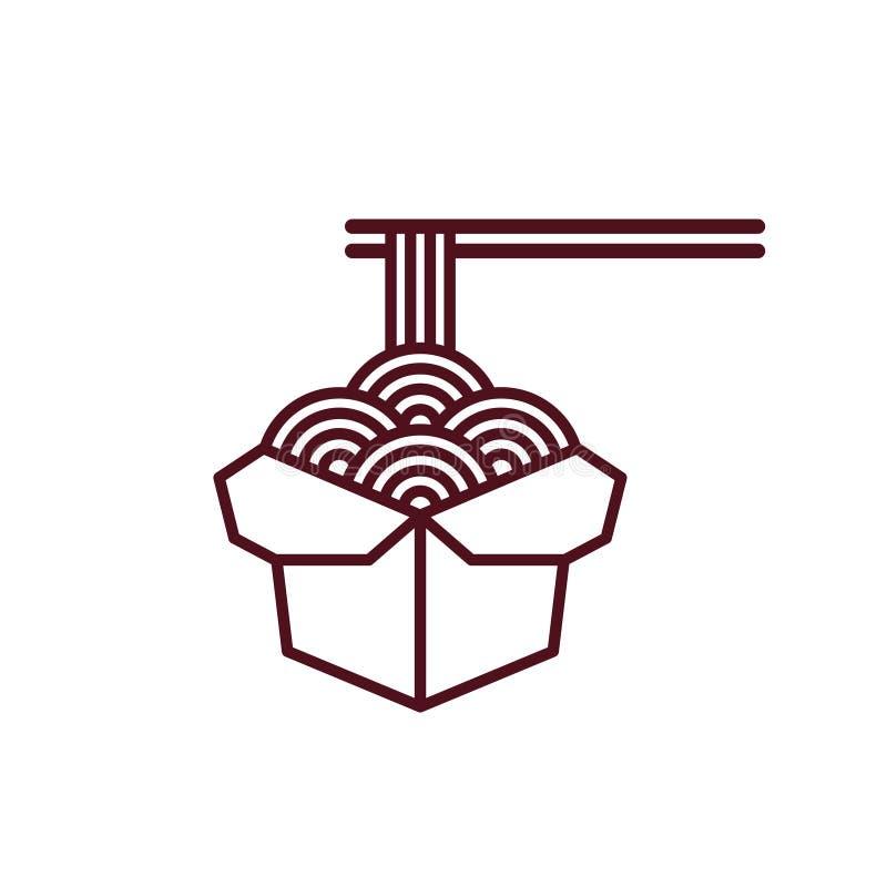 Icona cinese delle tagliatelle royalty illustrazione gratis