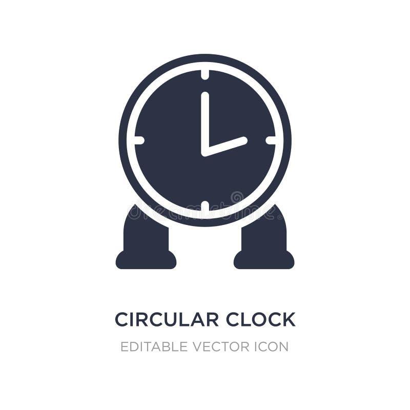 icona circolare dell'orologio su fondo bianco Illustrazione semplice dell'elemento dal concetto degli utensili e degli strumenti illustrazione di stock