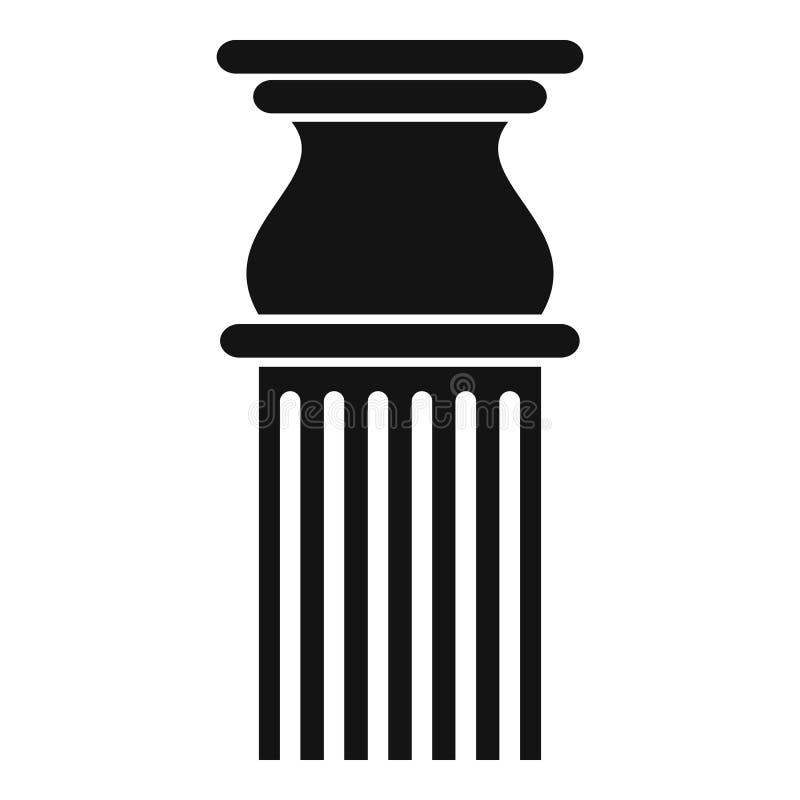 Icona classica della colonna, stile semplice illustrazione vettoriale