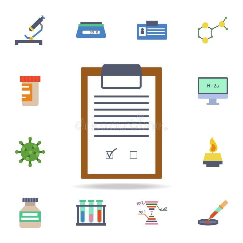 icona colorata della lista di controllo Insieme dettagliato delle icone di scienza colorata Progettazione grafica premio Una dell illustrazione di stock
