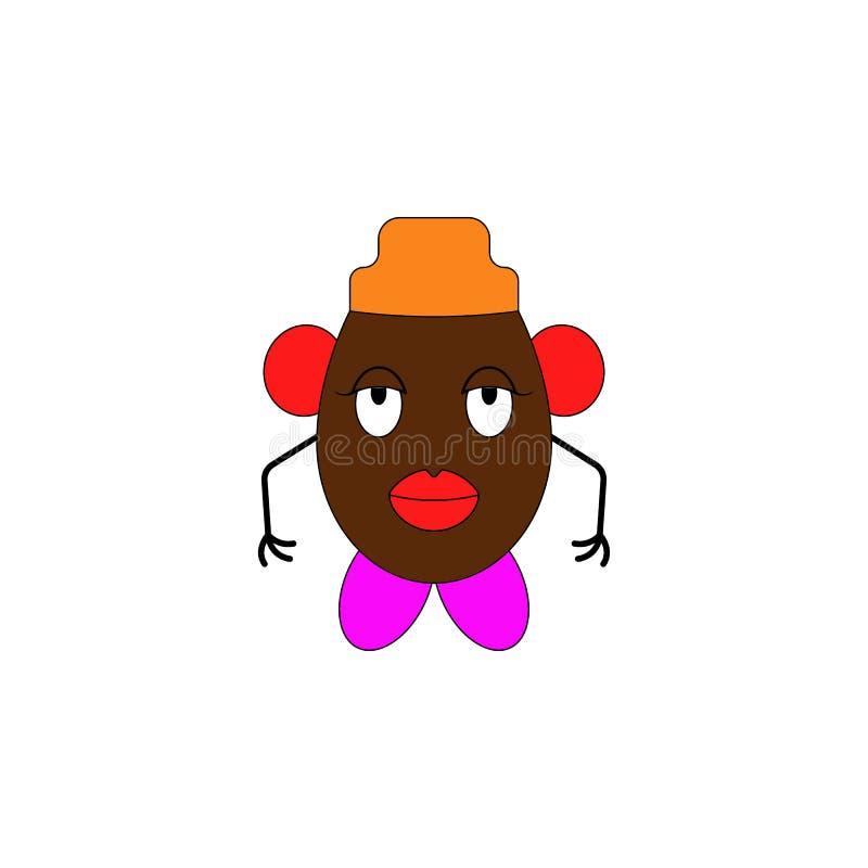Icona colorata giocattolo capo infantile delle patate del fumetto I segni ed i simboli possono essere usati per il web, logo, app illustrazione vettoriale