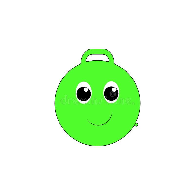 Icona colorata giocattolo gonfiabile del saltatore del fumetto I segni ed i simboli possono essere usati per il web, logo, app mo illustrazione di stock