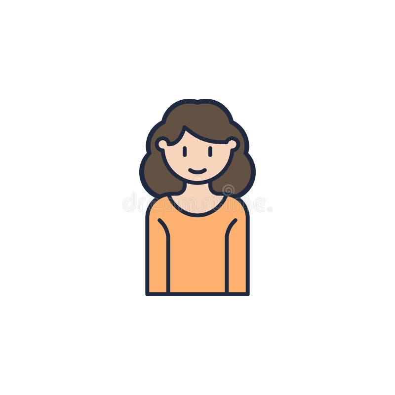 icona colorata madre Elemento dell'icona della famiglia per i apps mobili di web e di concetto L'icona colorata della madre può e royalty illustrazione gratis