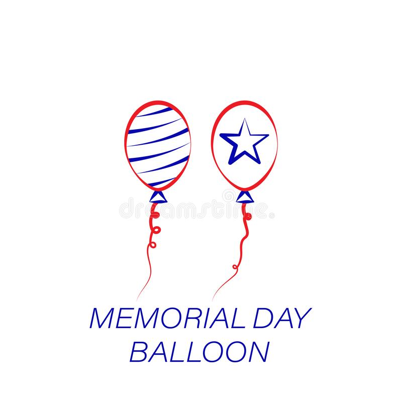 Icona colorata pallone di Giorno dei Caduti Elemento dell'icona dell'illustrazione di Giorno dei Caduti I segni ed i simboli poss royalty illustrazione gratis
