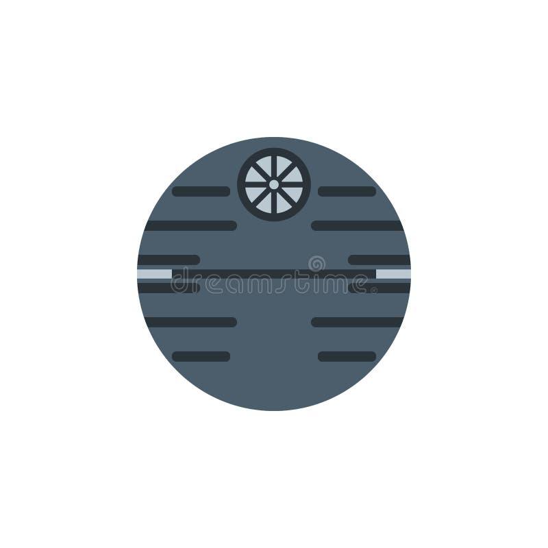 Icona colorata stazione spaziale Elemento dell'illustrazione dello spazio I segni e l'icona di simboli possono essere usati per i royalty illustrazione gratis