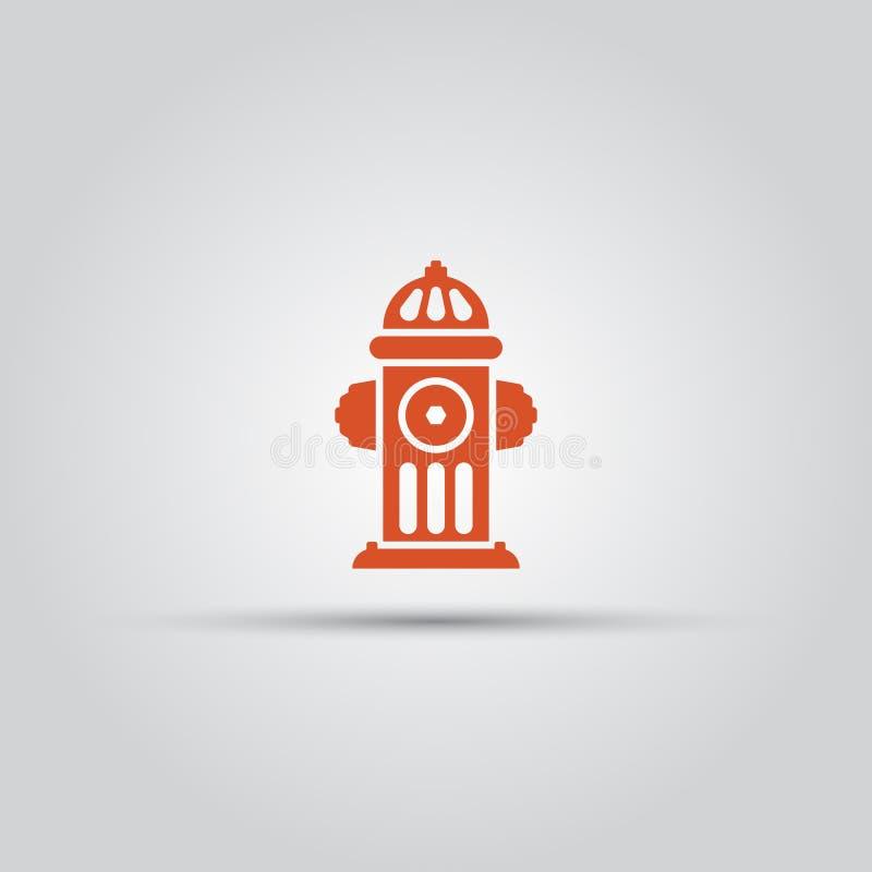 Icona colorata vettore isolata rossa dell'idrante antincendio royalty illustrazione gratis