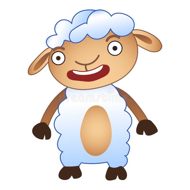 Icona colpita delle pecore, stile del fumetto illustrazione vettoriale