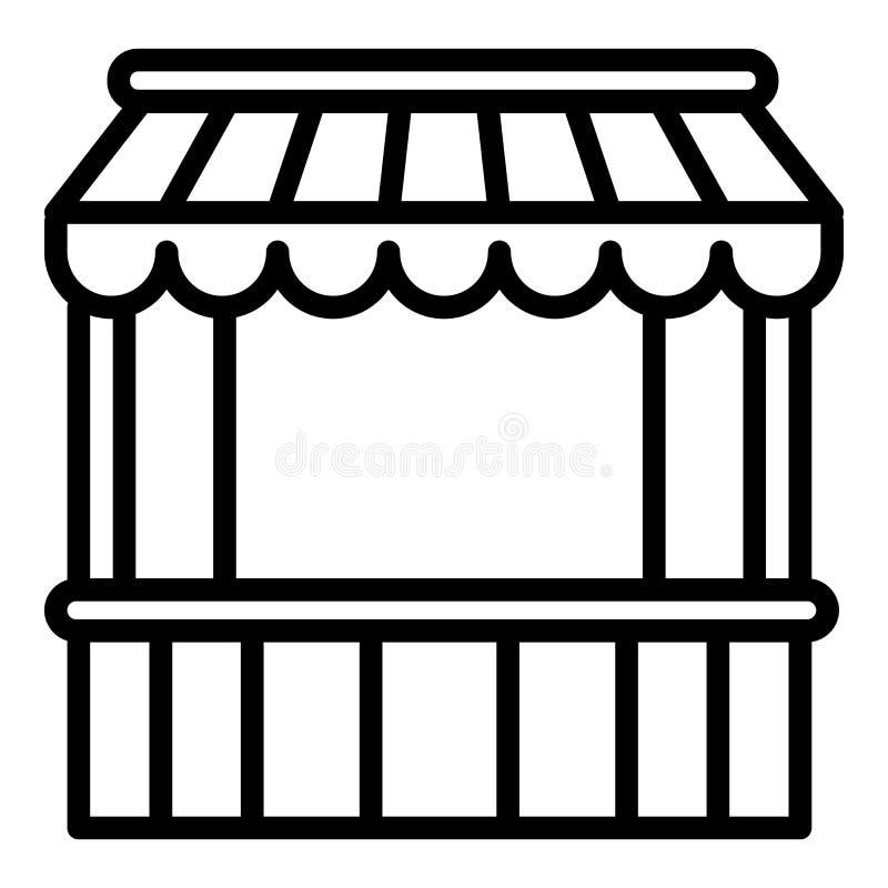 Icona commerciale della tenda, stile del profilo royalty illustrazione gratis