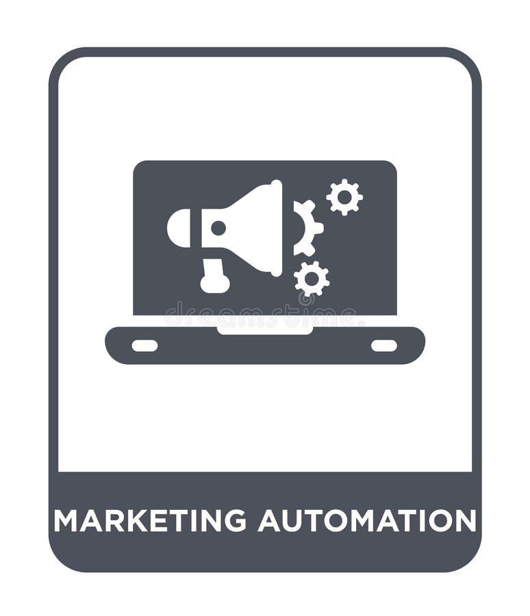 icona commercializzante di automazione nello stile d'avanguardia di progettazione icona commercializzante di automazione isolata  illustrazione di stock