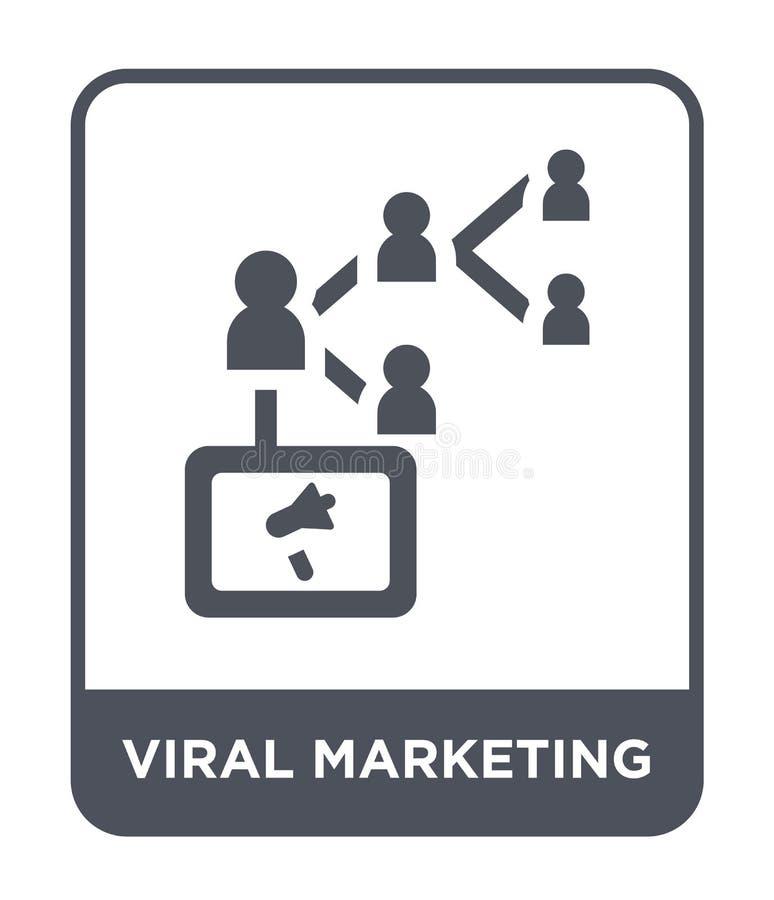 icona commercializzante virale nello stile d'avanguardia di progettazione icona commercializzante virale isolata su fondo bianco  illustrazione di stock