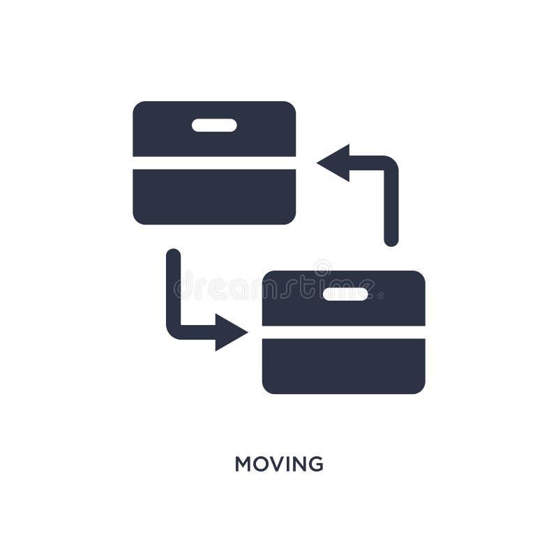 icona commovente su fondo bianco Illustrazione semplice dell'elemento dal concetto di logistica e di consegna illustrazione di stock