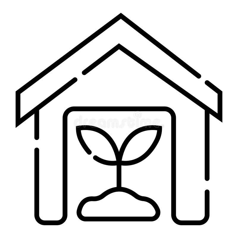 Icona complessa della serra royalty illustrazione gratis