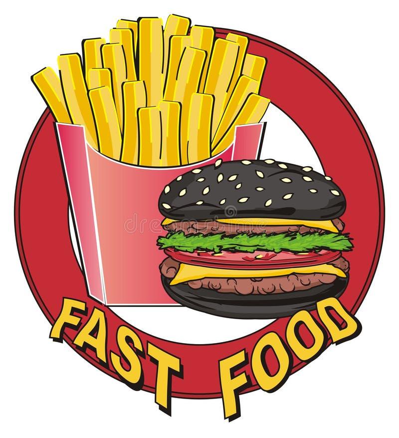 Icona con alimenti a rapida preparazione royalty illustrazione gratis