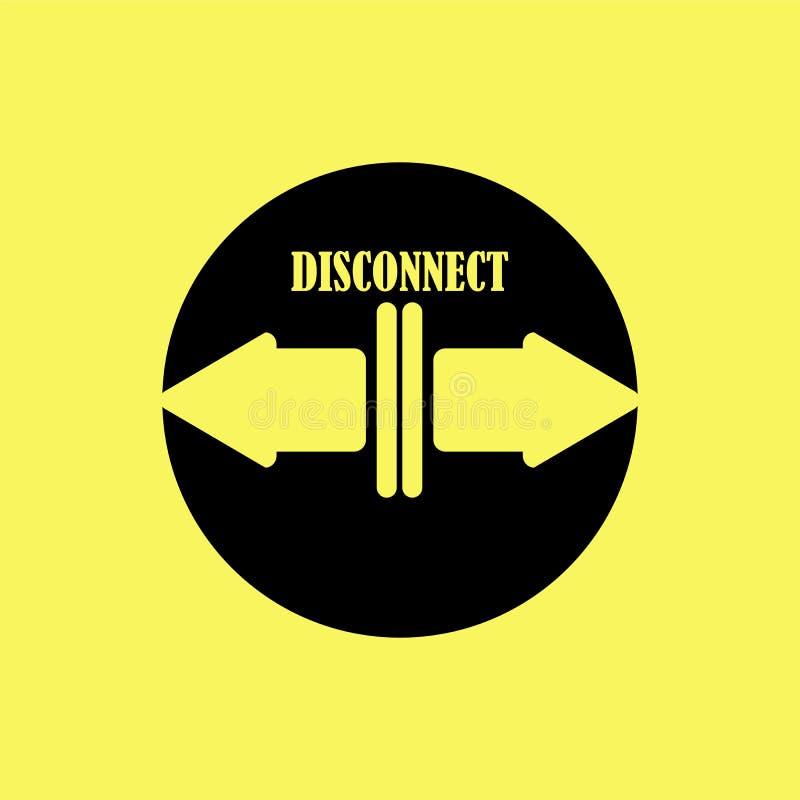 Icona con le frecce e la sconnessione di parola illustrazione vettoriale