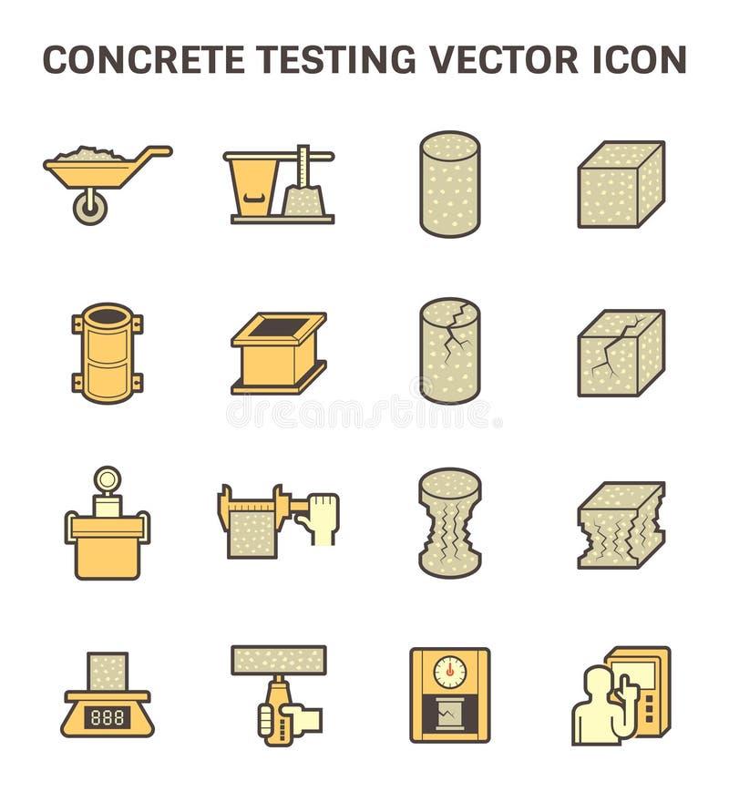 Icona concreta di prova royalty illustrazione gratis