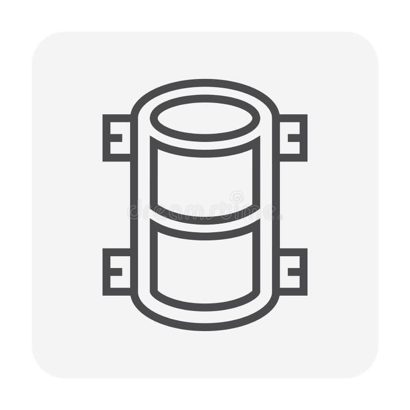 Icona concreta di prova illustrazione vettoriale