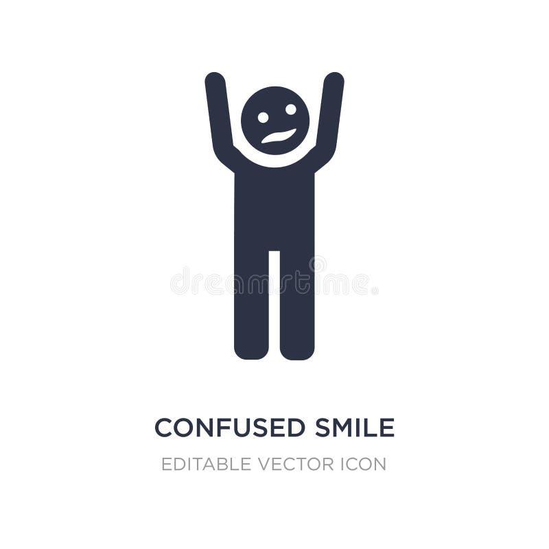 icona confusa di sorriso su fondo bianco Illustrazione semplice dell'elemento dal concetto della gente illustrazione di stock