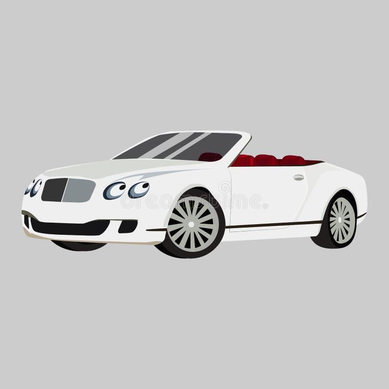 Icona continentale di vettore di Bentley GT su un fondo grigio Illustrazione dell'automobile isolata su grigio Stile realistico d illustrazione di stock