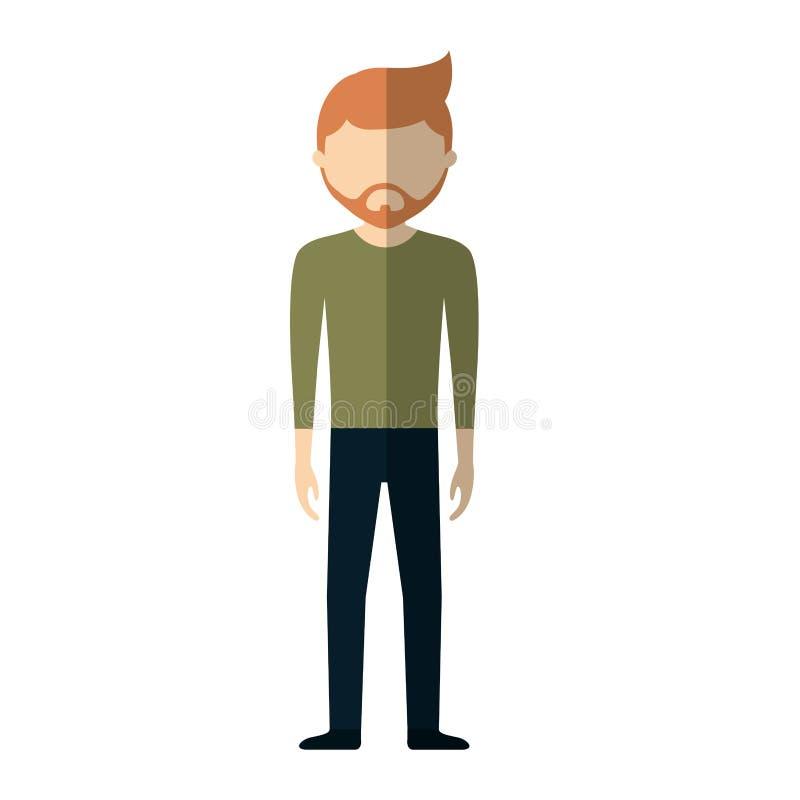 icona convenzionale del panno dell'uomo casuale royalty illustrazione gratis
