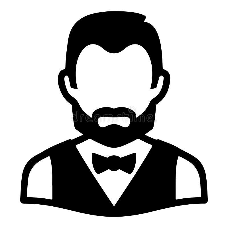 Icona convenzionale dell'avatar dell'uomo illustrazione vettoriale