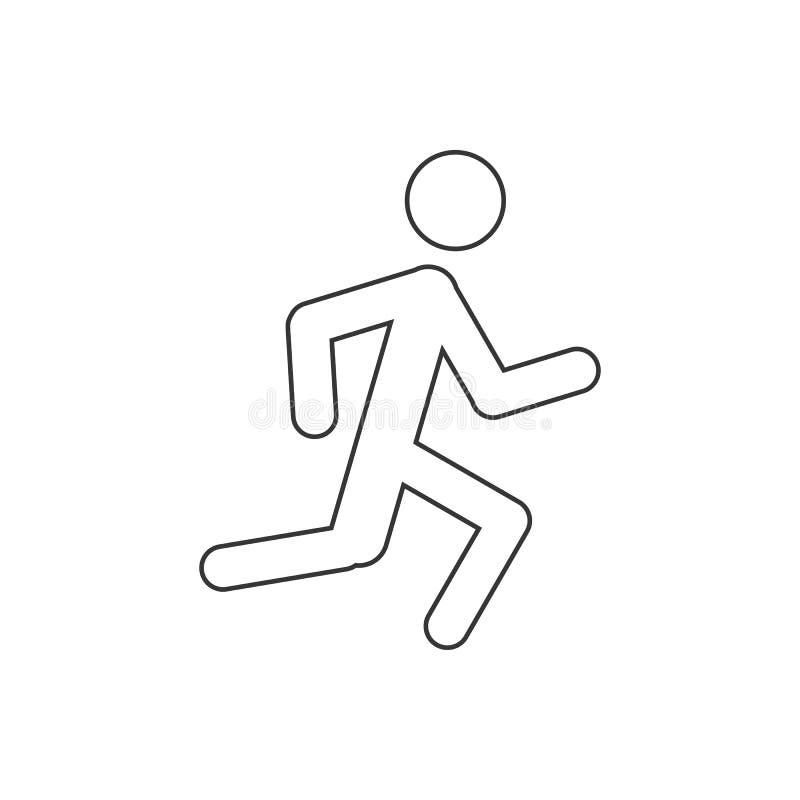 Icona corrente dell'uomo illustrazione vettoriale