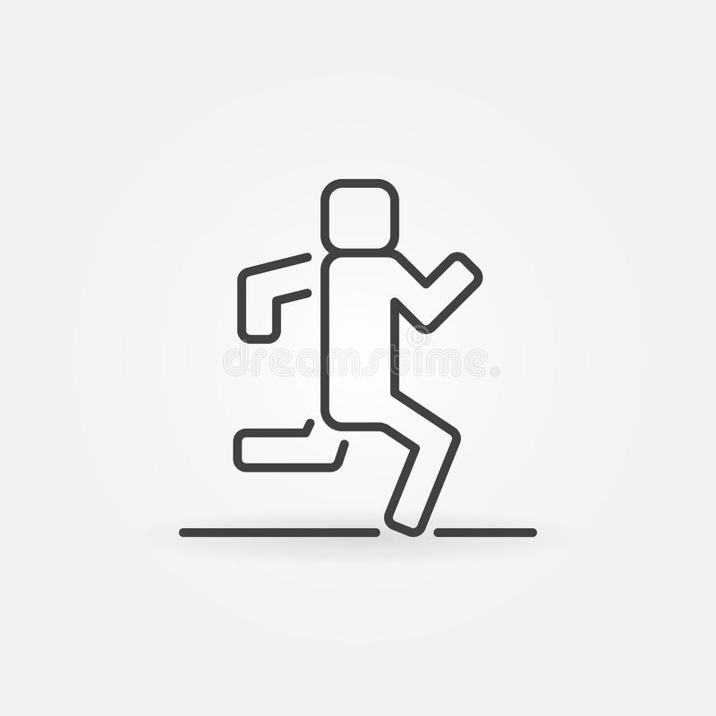 Icona corrente di vettore del profilo illustrazione vettoriale