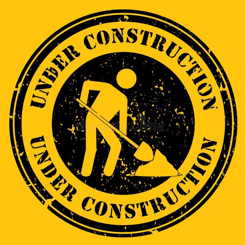 Icona in costruzione gialla illustrazione di stock
