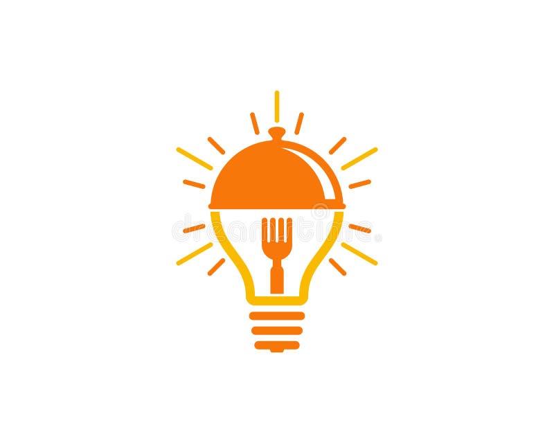 Icona creativa Logo Design Element dell'alimento di idea illustrazione vettoriale