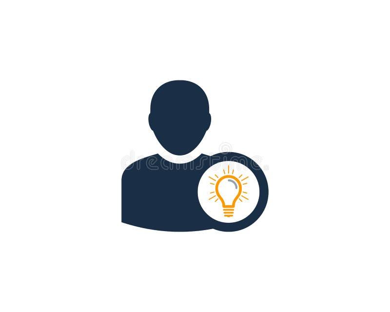 Icona creativa Logo Design Element dell'utente di idea illustrazione vettoriale