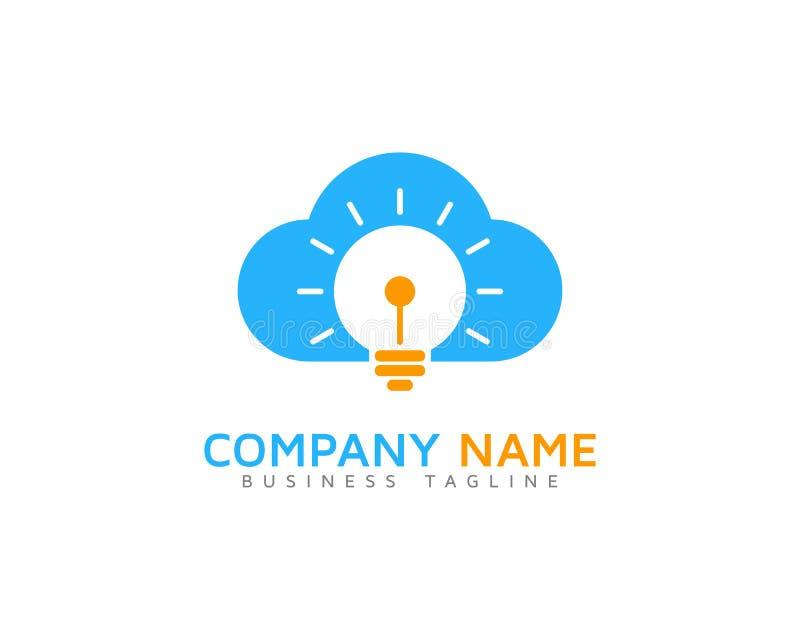 Icona creativa Logo Design Element della nuvola di idea illustrazione vettoriale
