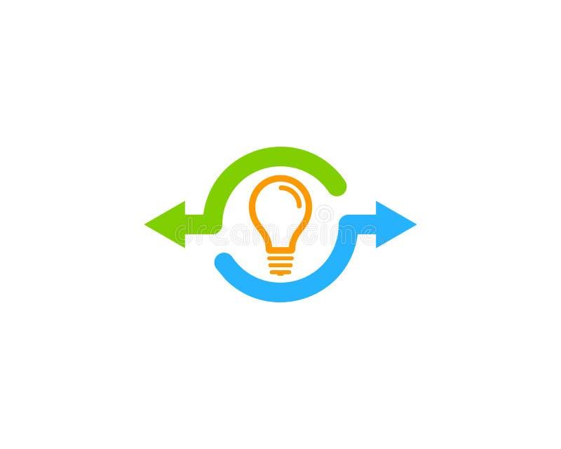 Icona creativa Logo Design Element della parte di idea illustrazione di stock