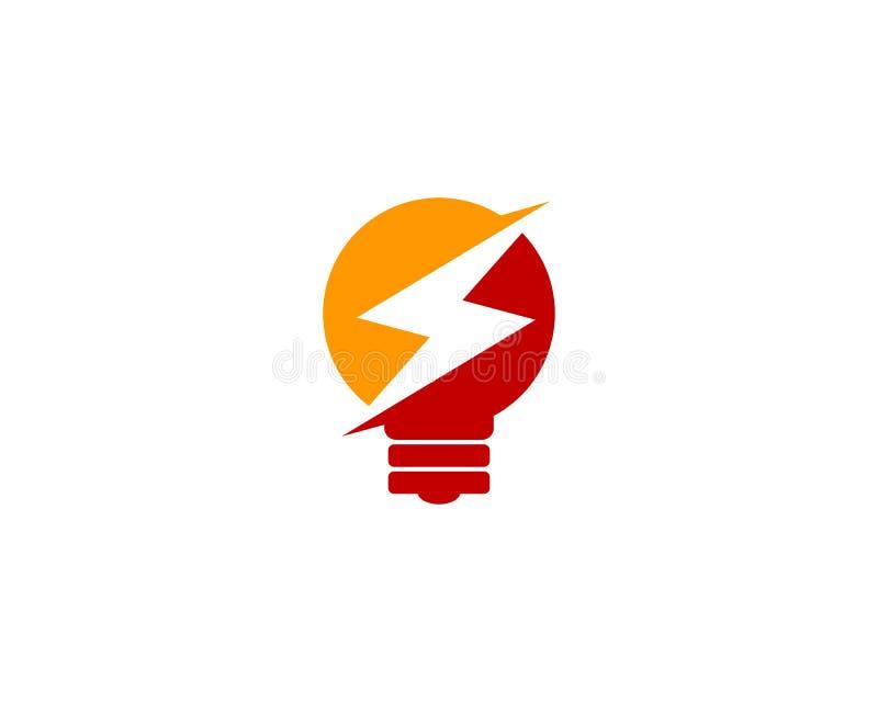 Icona creativa Logo Design Element di energia di potere di idea illustrazione di stock