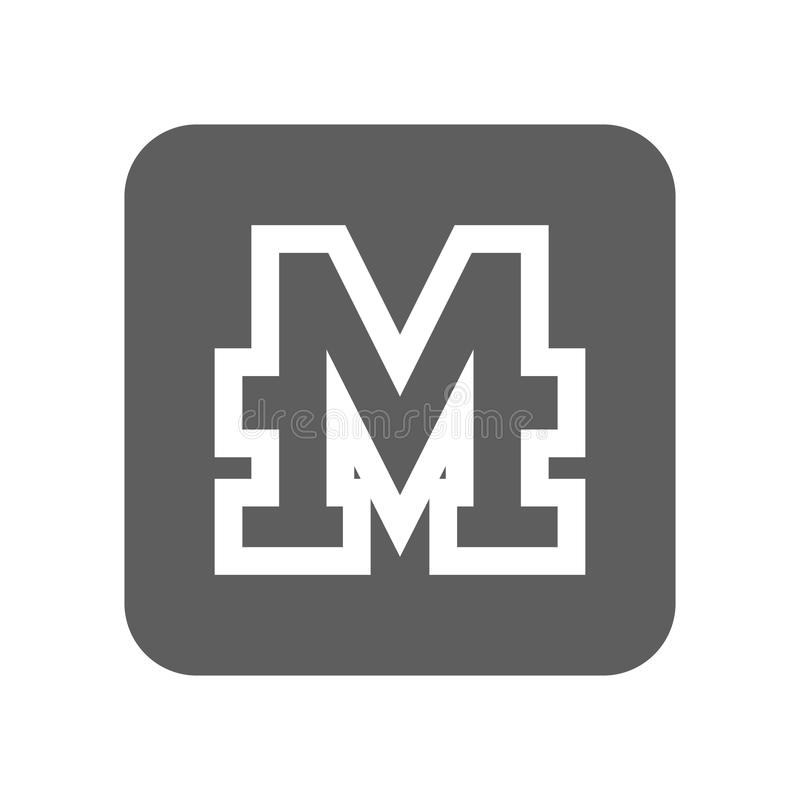 Icona cripto di valuta di Monero illustrazione di stock