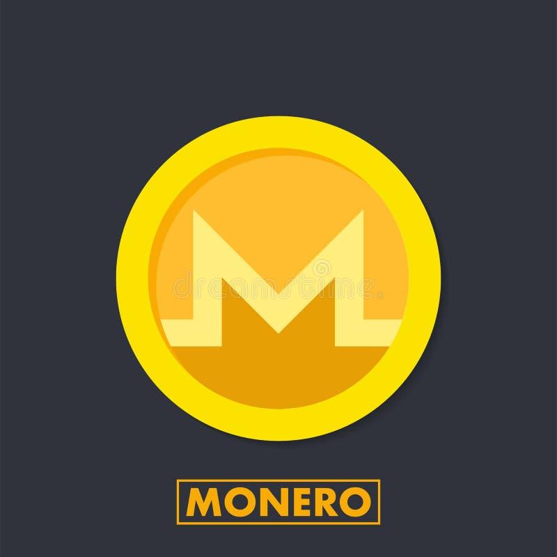Icona cripto di valuta di Monero XMR per i apps ed i siti Web Logo di Monero per il web e la stampa Illustrazione di vettore illustrazione di stock