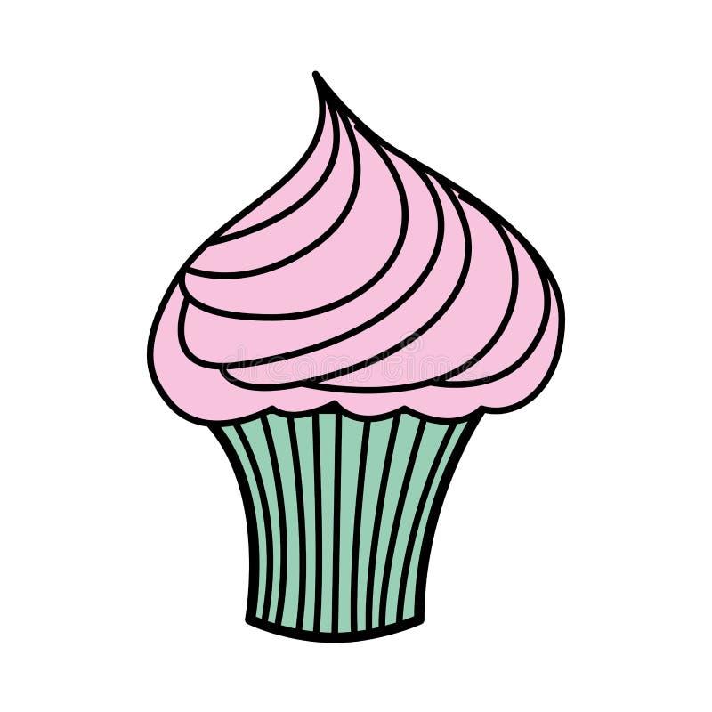 Icona cupcake vettore royalty illustrazione gratis