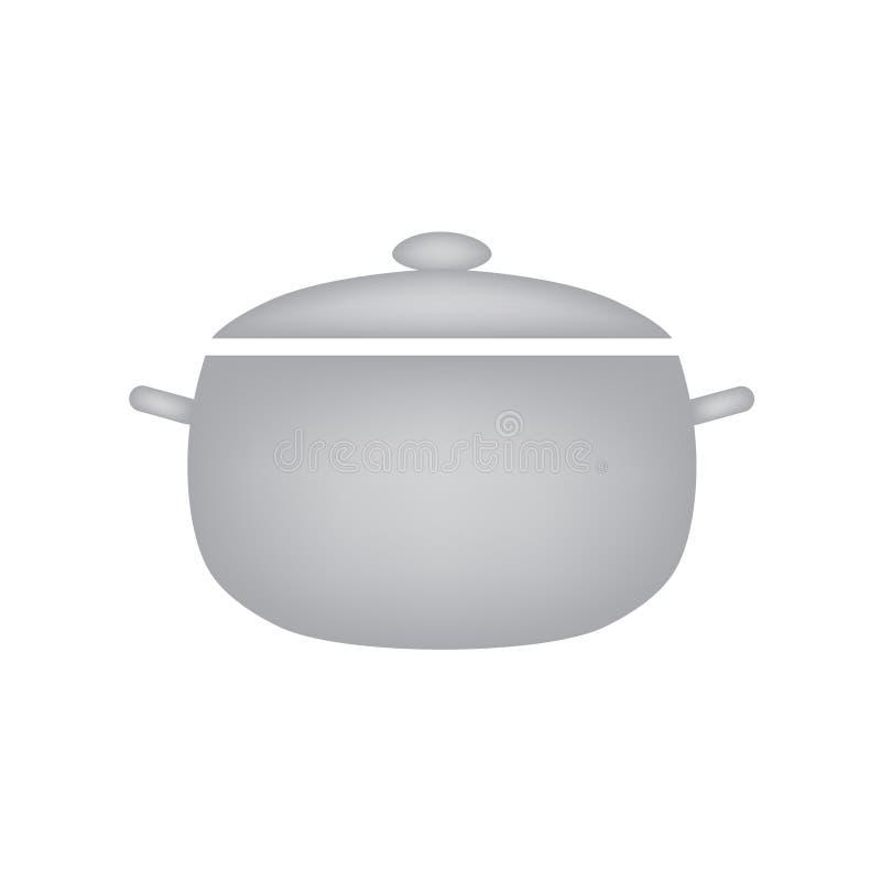 Icona d'acciaio del vaso royalty illustrazione gratis