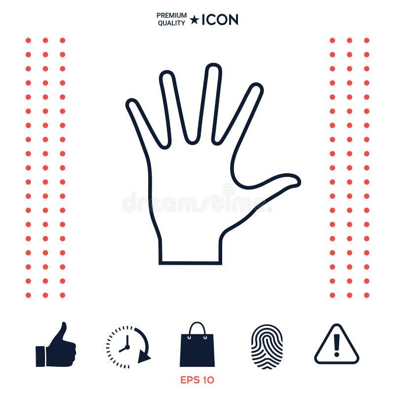 Download Icona D'aiuto Della Lenza A Mano Illustrazione Vettoriale - Illustrazione di democrazia, mano: 117975562