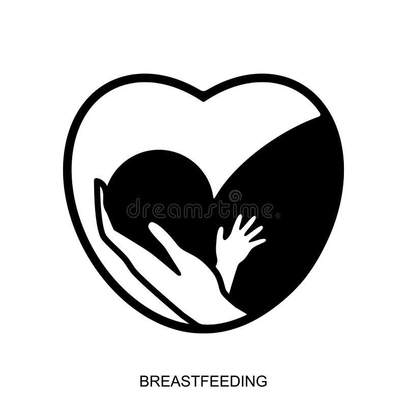 Icona d'allattamento al seno illustrazione di stock