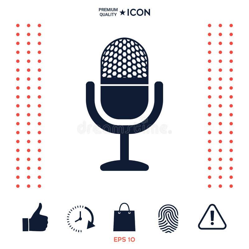 Download Icona D'annata Del Microfono Illustrazione Vettoriale - Illustrazione di discorso, suono: 117977508